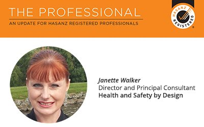 Janette featured in HASANZ newsletter – The Professional