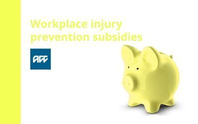 Good News from ACC – Workplace injury prevention subsidies